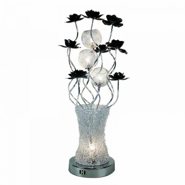Chrome Finish Flower Vase Floor Lamp, Flower Vase Floor Lamp