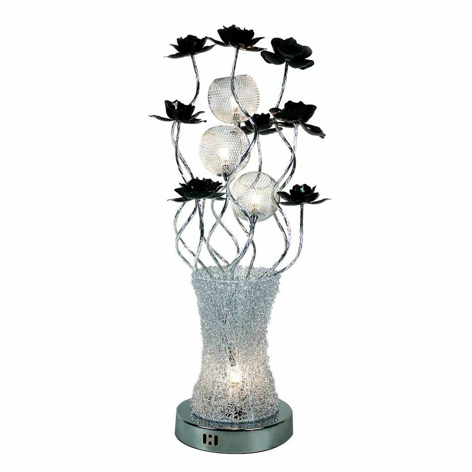 save off 64a54 8f0bd Chrome Finish Flower Vase Floor Lamp